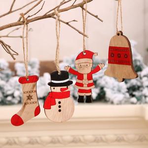 ornamento pequena árvore de Natal pingente de boneco de neve do Natal de Papai Noel novo decorações de Natal com pequena T500279 presente pendant woodiness