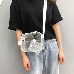Casual Woman PVC Transparent Clear Crossbody Bags Jelly Small Phone Wide Straps Flaps Shoulder Bag Handbag Card Key Storage Bags