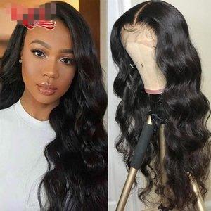 Парик Объемная волна фронта шнурка человеческих волос Парики для женщин черный 360 Кружева Фронтальная парик Remy 13x6 фронта шнурка человеческих волос