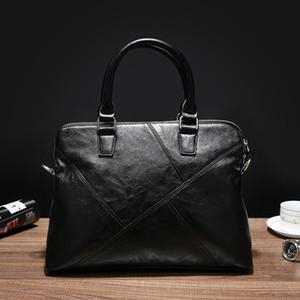 Neue koreanische Mens-Tasche Business Casual Handtaschen-Computer-Beutel Trendy Beutelmens-Schulter-Oblique-Aktenkoffer
