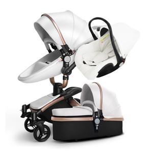 3 в 1 детская коляска многофункциональная роскошная детская коляска 3 в 1 Carseat и карета четыре колеса