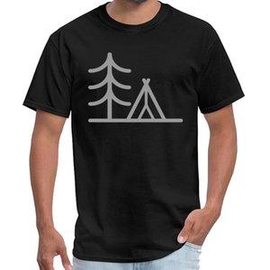 Camping Minimal bonito - árvore Tent Camper presente yungblud camiseta homens do programa de TV Office Plus tamanhos S-5XL naturais