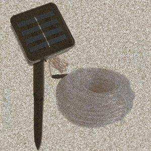 Luces en cuerda solares, 100 LED 33 pies 2 modos de iluminación, 50LED 16.5ft 8 modos de iluminación al aire libre solar impermeable Franja de luz blanca cálida bule yCBf #