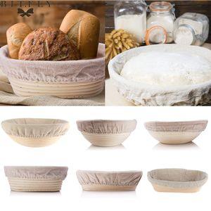 Hot Bread Fermentation Rattan Korb Landbrot Baguette Teigmasse Proofing Tasting Proving Baskets Supplies