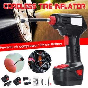 공기 압축기 12V 무선 휴대용 팽창기 펌프 디지털 LED 라이트 전기 압축기 자전거 자동차 자동차 타이어 풍선 펌프
