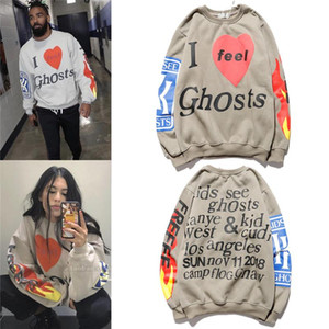 Kanye men's sweater women's hoodie jacket high quality loose hip-hop sweater white cotton long-sleeved printing tide brand M-3XL B