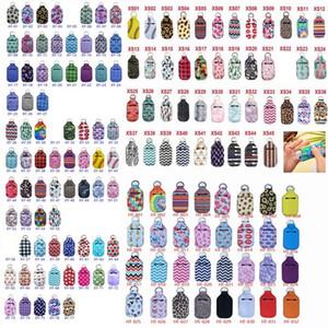 Desinfectante de manos 30ml Holder 154 Estilos de neopreno llavero mini botella de la forma de la cubierta del rectángulo Chapstick titular OOA8400