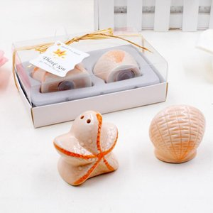 Wedding Favors 200 Pcs =100box Beach Theme Seashell And Starfish Salt &Pepper Shaker Bridal Shower Souvenirs Party Decor Supplies Lx1289