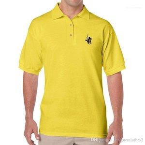 Farbe beiläufige Mens Polos Revers Ausschnitt Kurzarm Männlich Kleidung Stickerei Designer Herren Polos Fashion Solid