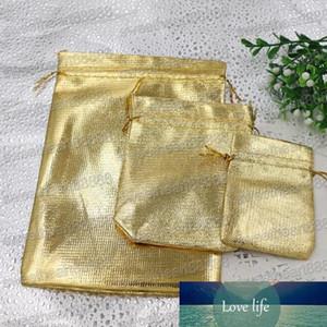 Nuovo 4sizes Moda placcato oro garza raso gioielli borse gioielli regalo Sacchetti Bag 6x9cm 9x12cm 7X9cm 13x18cm