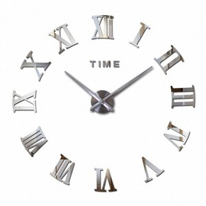 Vente en gros 2016 Hot Fashion Quartz Home Decor Ltd vente 3d Big Mirror Diy réel Horloge murale design moderne Chambre très grand cadeau W LggM #