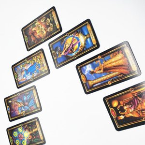 Familia Fiesta Tarot Tarot Oracle dorada Fate Juegos Jugar Fácil cubierta Adivinación Tarjetas Tarjeta de Juego de mesa tarjeta Inglés bbyqqd bwkf