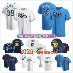 New 2020 Tampa Bay Baseball Rays Jersey 39 Kevin Kiermaier 11 Hunter Renfroe 2 Yandy Diaz 25 Yoshitomo Tsutsugo 40 Jose Martinez Wade Boggs