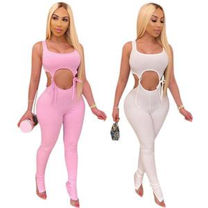 Günlük Bandaj Spor Moda Kadınlar Eşleştirme Setleri Kolsuz Katı Sportif Egzersiz İki Adet Kıyafetler Sıska Üst Ve Pantolon Seti