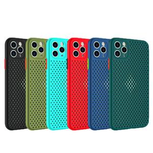 cas de téléphone mobile style Mesh pour l'iphone 11 11Pro XR XS X 7 8 coque plus Max Téléphone Housse de protection