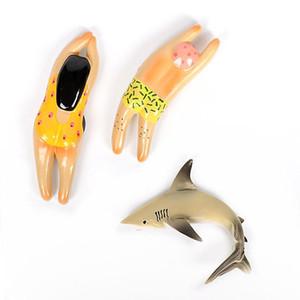Decoration 3d Gifts Magnet Imitation Refrigerator Shark Creative Kitchen Magnetic Paste Small Doll Girl Boy Home Tile Swimming YoHbu