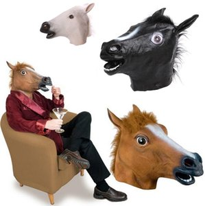 Cosplay Halloween Horse Head Mask Animal Party Costume Prop Toys Novel Full Face Head Masks with Sea Shipping CCA12442 50pcs