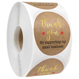 Nueva llegada del papel de Kraft Etiquetas gracias por apoyar mi pequeña empresa de etiquetas engomadas del sello DIY de Navidad regalo de la decoración