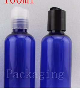 100ml X 50 blue shampoo lotion plastic bottles, empty liquid soap travel bottles cosmetic packaging 100g