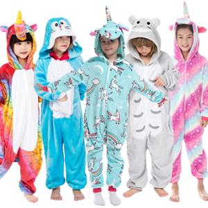 Kugurumi Çocuk Unicornio pijamalar Genel Unicorn Pijama Onesie Çocuk Panda Kış Fanila pijama Kigurumi 4-12 Y