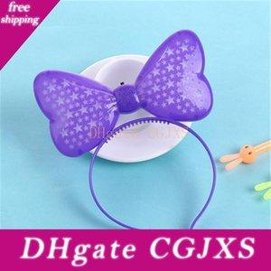 Мода светодиодные фонари Luminous оголовье Hollow Пять -Pointed Star Butterfly Headdress Детский праздник взрослых КТВ Свадьба Deco Q0802