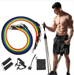 11 pc Pull Rope Set fitness esercizi di resistenza Bands lattice Tubi Pedale Excerciser Workout fune Ente di Formazione di accessori LSK1065