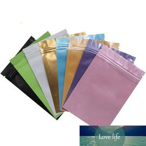 100Pcs Multi Colors Resealable Zipper Bag Food Storage Aluminum Foil Pouch Coffee Candy Storage Bags