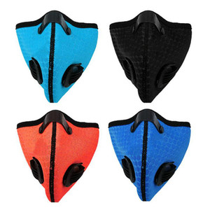 Biking Anti-dust Face Mask Activated Carbon Riding Cycling Masks Running Anti-Pollution Isolation Mask With Filter Individual Package