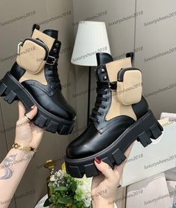 Femmes Milano Motorcycle Bottes femme en cuir amovible KeyCase Bottes Unique New Rois fond épais Chevalier Martin Boot Chaussures Casual Sneakers
