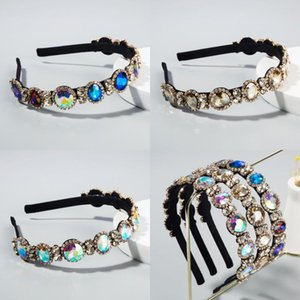 Colorful cristallo piena fascia per le donne lucido imbottito diamante di Hairband Bling accessori strass capelli 3 stili DHE570