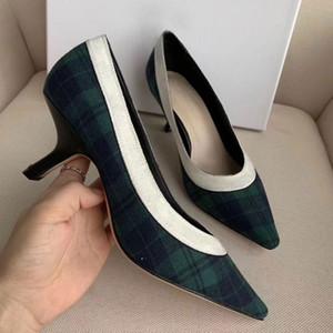 Vestido de moda Sapatos Primavera e Outono Mulheres High Saltos Esportivos Estilo De Casamento Sapatos De Casamento Kitten Heels Divertidos Sapatos Femininos