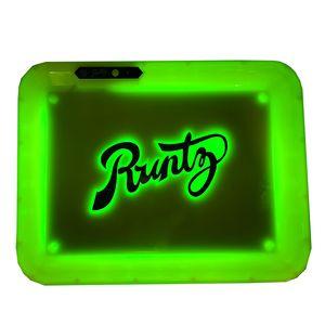 Bac à rouler LED RUNTZ GLOWTRAY LED lumière Coloré 5 couleurs Plaque en plastique pour 510 cartouches de fil avec plateau de lignes USB