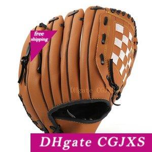 11 .5inch deportes al aire libre para adultos Jóvenes tres colores guante de béisbol práctica del softball equipo guantes de protección de la mano izquierda