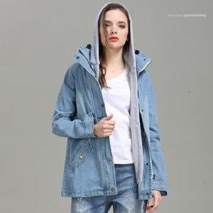 Apparel Womens Autumn Designer 2Pcs Jeans Jackets Long Sleeve Plus Size Female Clothing Fashion Style Casual