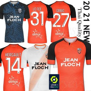 20 21 Maillots FC Lorient Soccer Jerseys 홈 멀리 2020 2021 Maillot de Foot Lorient Hergault Umut Bozok Le Fee Grbic Football Shirts