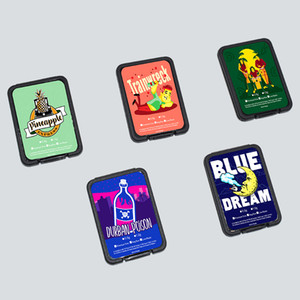 사용자 정의 스티커 플라스틱 블랙 균열은 플라스틱 용기에 대한 산산조각 SD 카드 케이스 왁스 정광 저장이 작은 상자를 포장 팩