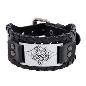 Qs3vL 2020 Nouveau cuir tissé hommes punk cowhide 2020 nouveaux accessoires tissés bracelet accessoires vachette bracelet en cuir hommes punk