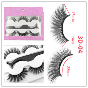 The newest False eyelash 3d mink lashes 3 pair lashes thick Faux 3D real mink eyelashes with tweezers 26 styles