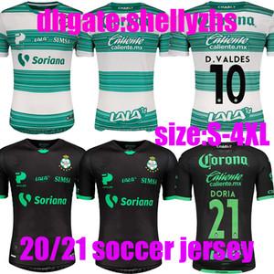 대형 크기 : S-4XL 산토스 라구나 축구 유니폼 2020 2021 LIGA 멕시코 MX 클럽 FC 20 21 PINK 축구 셔츠 FURCH 로자노 Camiseta 드 푸 웃