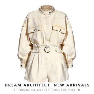 v3p2z Earth-Shop beiläufige Kurzschlüsse Arbeitskleidung Mode Waschfrauen europäische Waren fallen 2020 Arbeitskleidung Hosenanzug Hosen neue Zwei-Torte passen