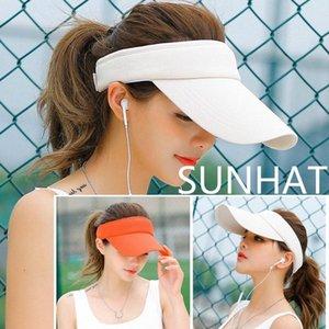 Men's ladies sun hats girls hats beach visors sports headband classic adjustable sun protection sports baseball caps o5nk#