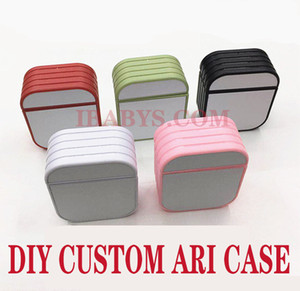 DIY Custom design Aripods Case PC Blank Sublimation Hard Plastic Heat Transfer Phone Case with Aluminum Inserts Protector Case
