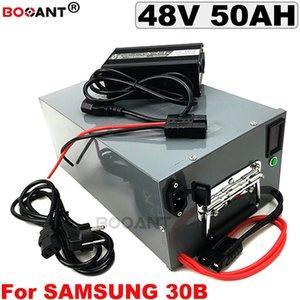 48V 50AH batería de la bici eléctrica para Samsung ICR18650-30B celular E-bici de litio 13S Para Bafang BBSHD 1500W 2000W Motor