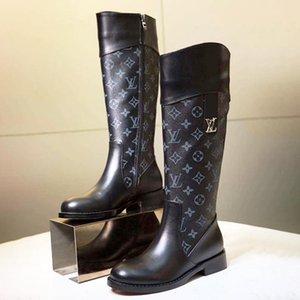 Женщины Boots Zipper Knee High Round Toe Platform Женская обувь Плюс Размер 42 Bottes Femmes Chaussures De Femme High Top Женская обувь Мода