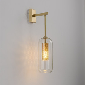 ما بعد الحداثة الجدار الزجاجي مصباح الأنوار الشمال أدى الجدار الشمعدان للحمام غرفة النوم الرئيسية الإضاءة مطبخ مصباح ومينير E14