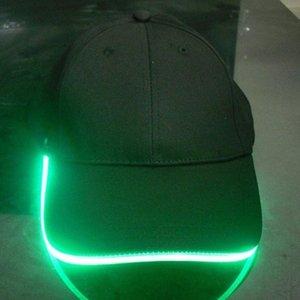 Оптовая моды Новый светодиодный Освещенные Hat Party Бейсбол Hip Hop Регулируемая ткань Hat Cap Glow pvLP #