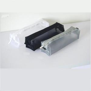1PCS Women Men Neceser Cosmetic Bag Transparent Travel Fashion Mini Black Toiletry Makeup Organizer Bags Case Pouch Pencil Bag