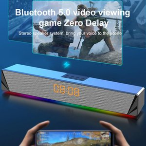 Laptop Bluetooth Sound Bar Speaker Desktop Computer Smartphones Game Console Tablets Multifunction RGB LED Display TV Deep Bass