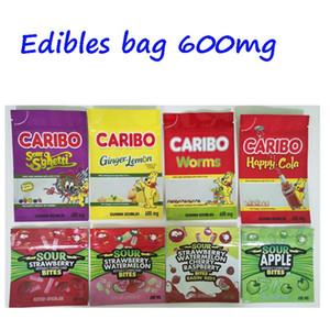 600mg Caribo infüze gummies Koku Geçirmez Mylar Folyo Bag cannaburst ekşi gusher ambalaj egzotik 420 710 ekşi edibles