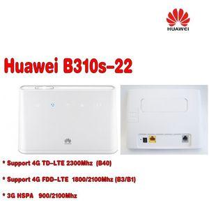 Sbloccato Huawei B310 B310s-22 con antenna 150Mbps 4G LTE CPE WIFI modem router con Sim Card slot fino a 32 dispositivi